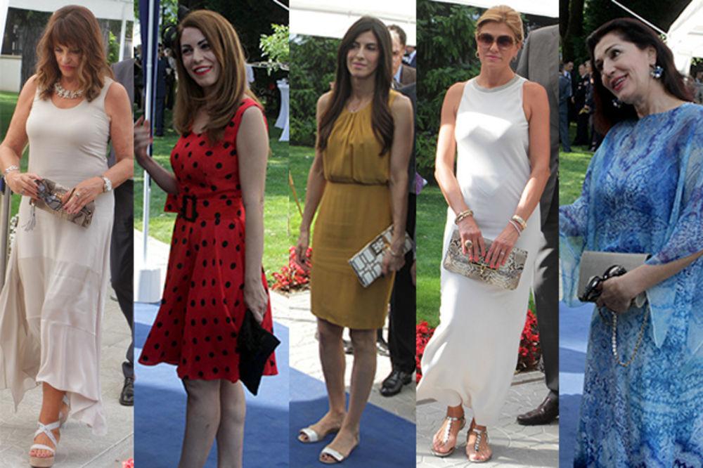 TOPLOTNI UDAR: Ovako su se dame Srbije obukle za prijem u američkoj ambasadi
