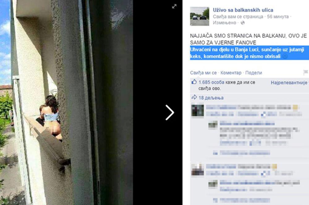 (FOTO) ŽESTOK ZORNJAK SUBOTOM: Komšije voajeri snimili seks na terasi usred Banjaluke!