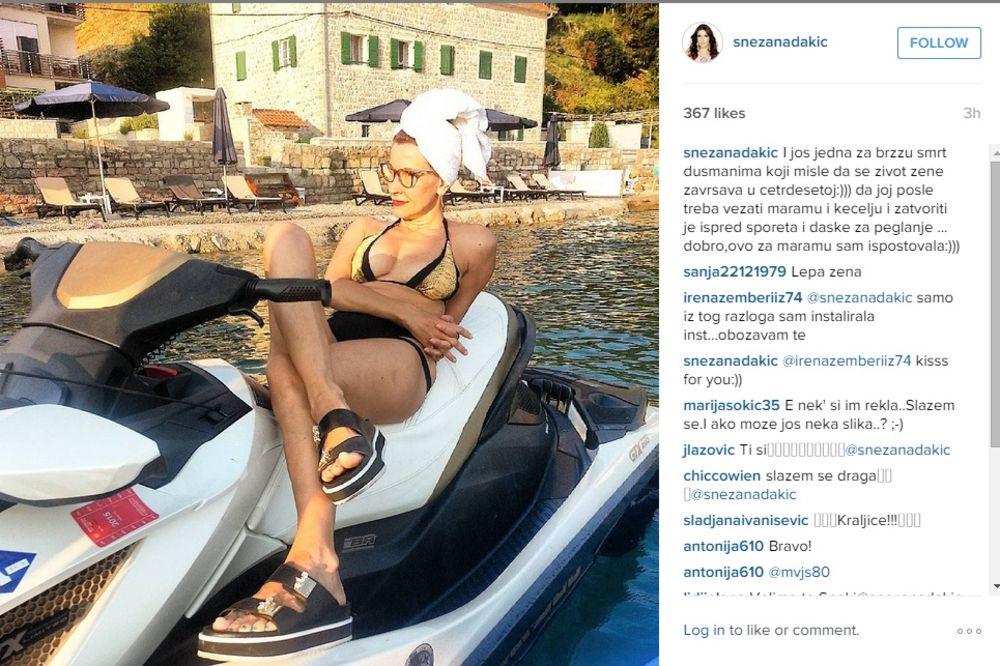 SAMOUVERENA: Snežana Dakić fotkom u bikiniju poslala poruku dušmanima!