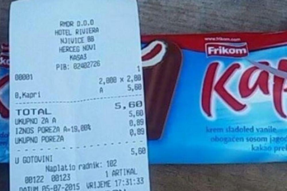 DRANJE U CRNOJ GORI: Sladoled kapri naplaćuju 2,80 evra!