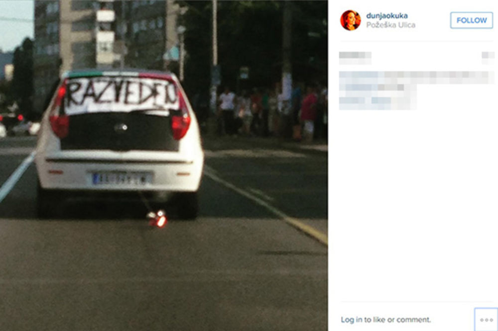 (FOTO) RAZVOD NA SPRSKI NAČIN: Evo kako je Beograđanin proslavio kraj braka!