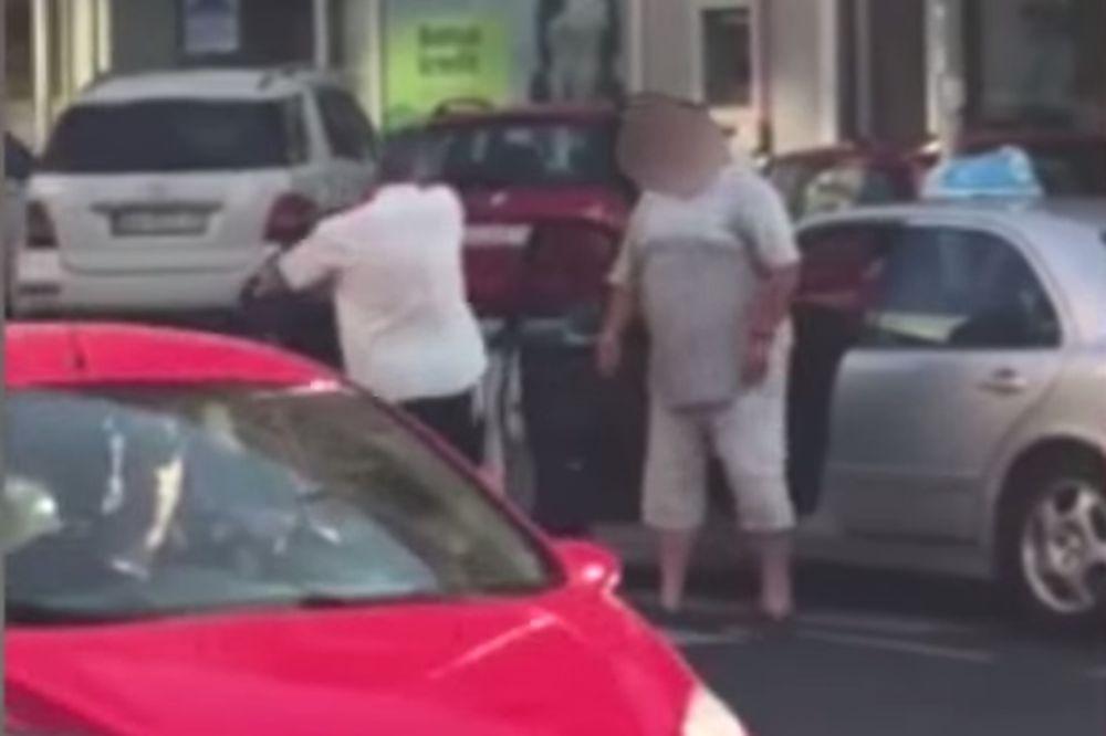 (VIDEO) UMALO TUČA KOD DOMA OMLADINE: Taksista odgurnuo čoveka zbog pešačkog!