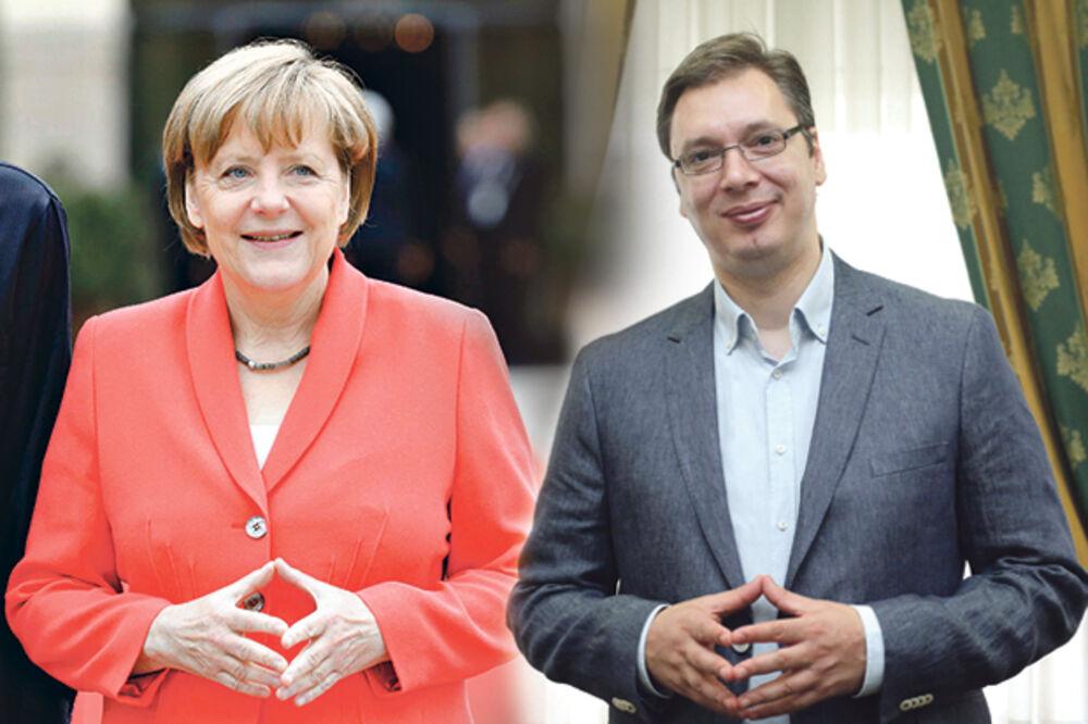 VUČIĆ ZAHVALAN: Niko ne brine o Srbiji i Balkanu kao Angela Merkel