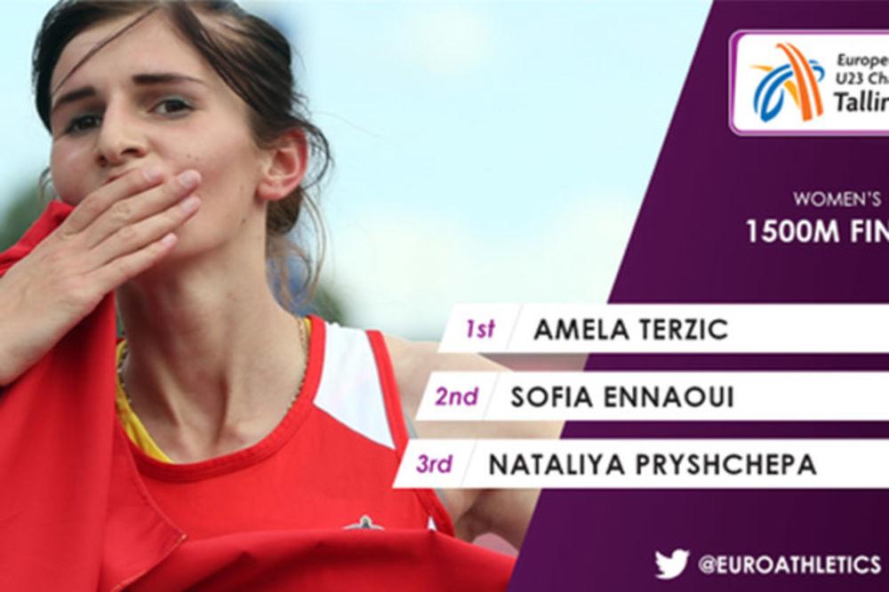 (VIDEO) POGLEDAJTE DRAMATIČAN FINIŠ: Amela Terzić osvojila evropsko zlato i olimpijsku normu