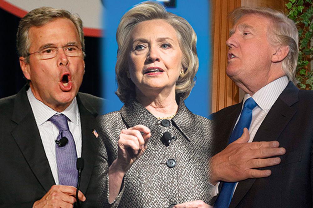 SPREMAJU KANDIDATURE: Buš i Hilari skupili najviše para, Tramp ionako najbogatiji