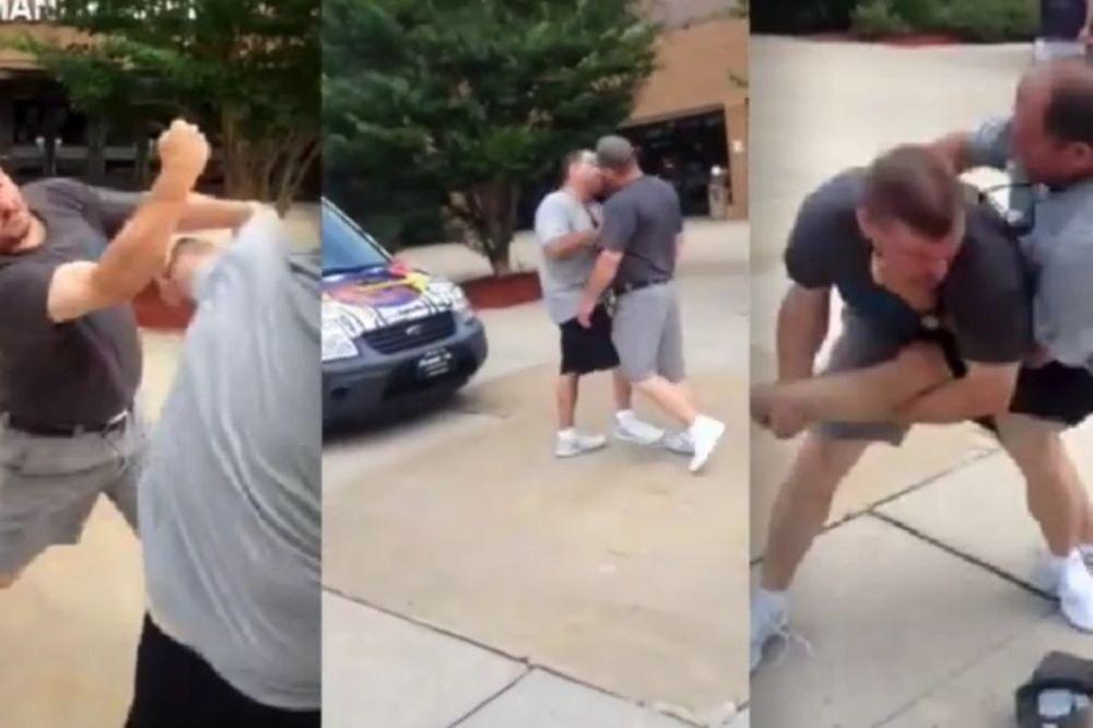 (VIDEO) KRVAVA TUČA: Očevi lomili kosti zbog ćerki