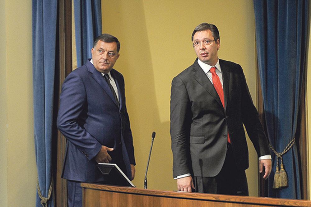 Razgovarali o referendumu u RS... Dodik i Vučić juče u Beogradu