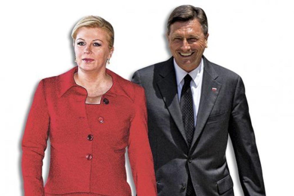 Kolinda Grabar Kitarović i lider Slovenije Borut Pahor , foto ap, foto beta