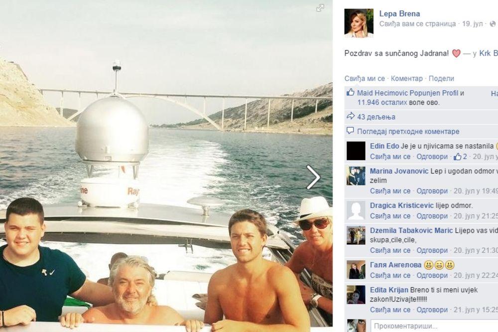 BOBA BRENI ISPUNIO SAN: Kupio joj brod od 17 metara, pa sad krstare Hrvatskom
