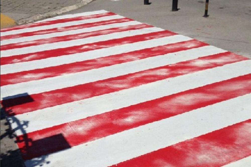 (FOTO) HIT NA JUGU: Posle Niša crveno-bele zebre i u Vranju!