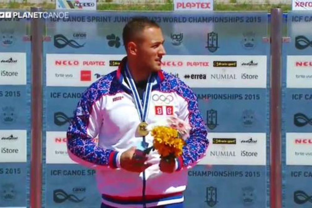 SVAKA ČAST SRBINE: Kajakaš Marko Dragosavljević je prvak sveta!