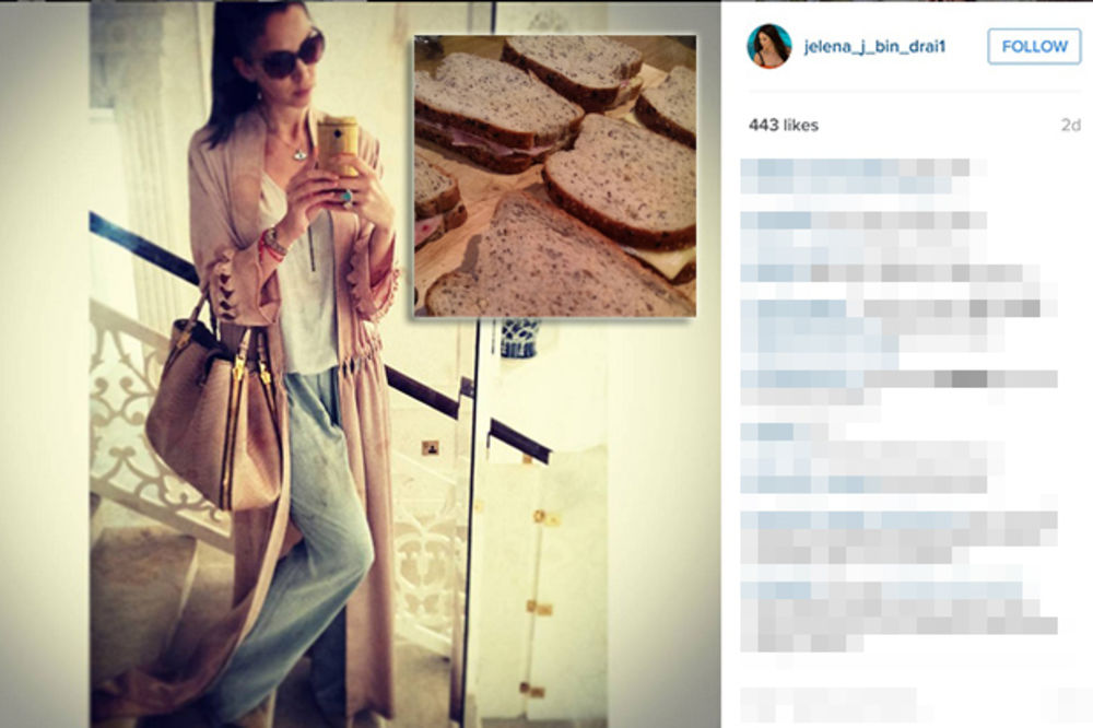 (FOTO) SULTANIJA JELENA BIN DRAI: Ako ste Srbin, morate napraviti sendviče za put!