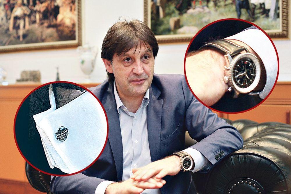 BATA KAVALI ŽIVI KAO TAJKUN: Gašić šeta sat od 12.000 evra!
