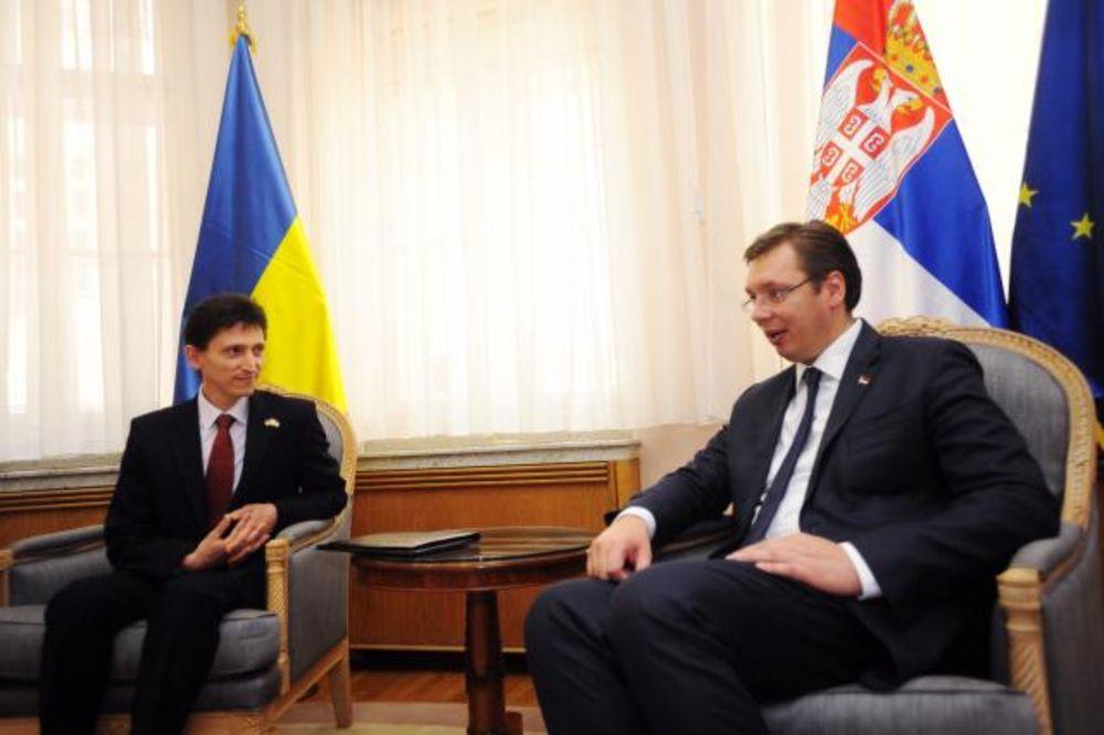 (FOTO) PREMIJER POŽELEO DOBRODOŠLICU: Vučić ugostio novog ambasadora Ukrajine