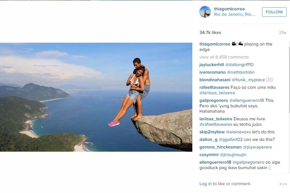 IZAZIVA SMRT: Brazilac traži adrenalin i rizikuje život za ove fotke!