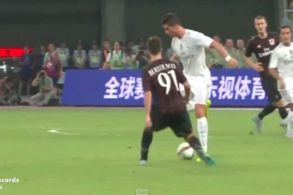 (VIDEO) RONALDOVA MAJSTORSKA ŠTIKLA: Posle poteza Portugalca igrači Milana nisu znali gde je lopta