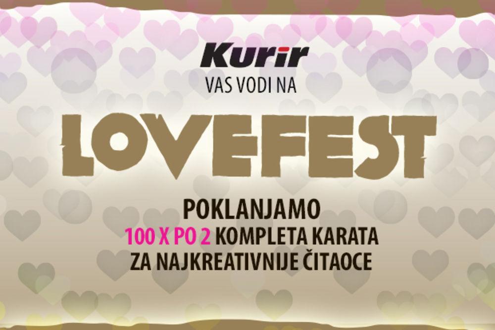 VODIMO VAS NA LOVEFEST: Pokažite nam šta je za vas ljubav i osvojite komplete karata za festival
