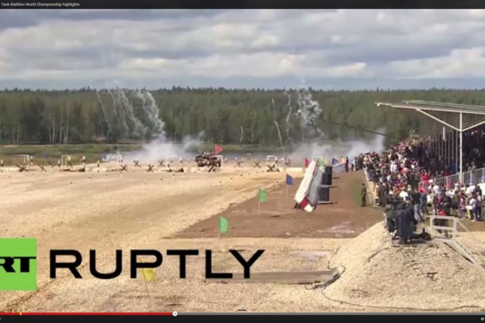 (VIDEO) OSVETLALI OBRAZ: Srpski tenkisti pobedili u prvoj trci vojnih igara u Rusiji