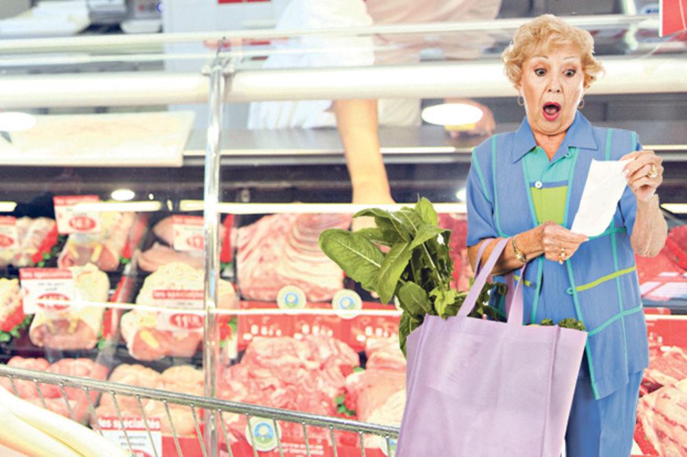 STRUJNI UDAR NA CENE NAMIRNICA: Poskupljuju meso, sir i slatkiši