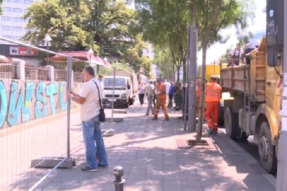 ROKOVI MORAJU DA SE ISPOŠTUJU: Rekonstrukcija Cvetnog trga i vikendom