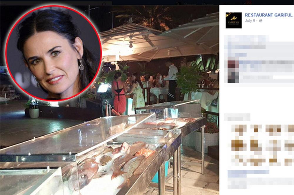 SAD SE POSIPAJU PEPELOM: Hvarski restoran objavio račun Demi Mur, pa se gazda izvinjavao