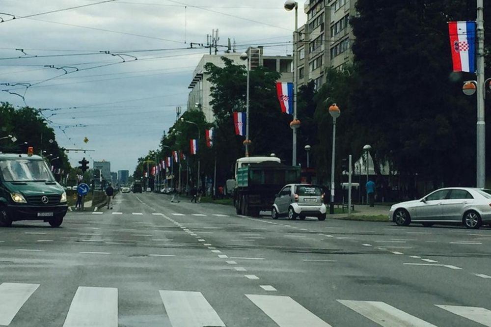 PLAKATI U ZAGREBU: Ulica parade oblepljena imenima srpskih sela