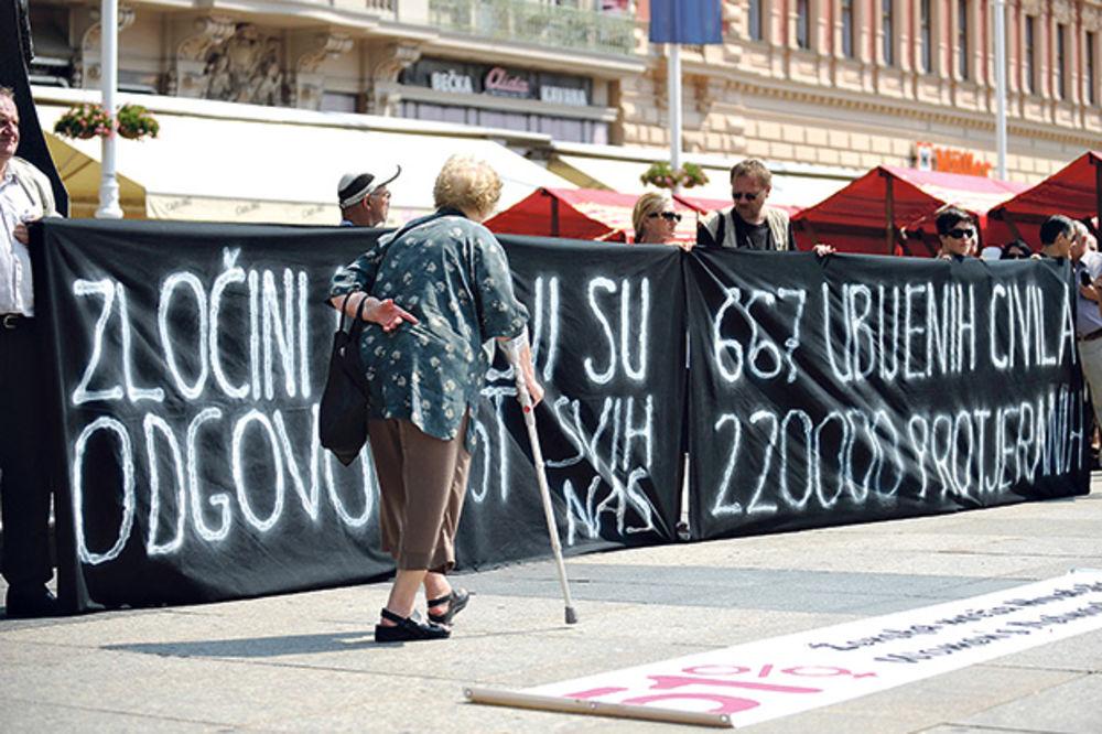 MIMOHOD: Usred Zagreba odali počast žrtvama Oluje