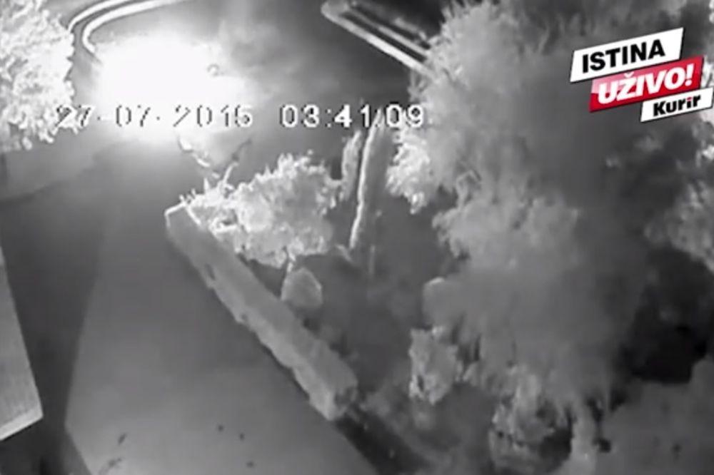 (KURIR TV) SVETE SE RADNIKU OBEZBEĐENJA: Nišliji zapalili automobil na parkingu ispred zgrade