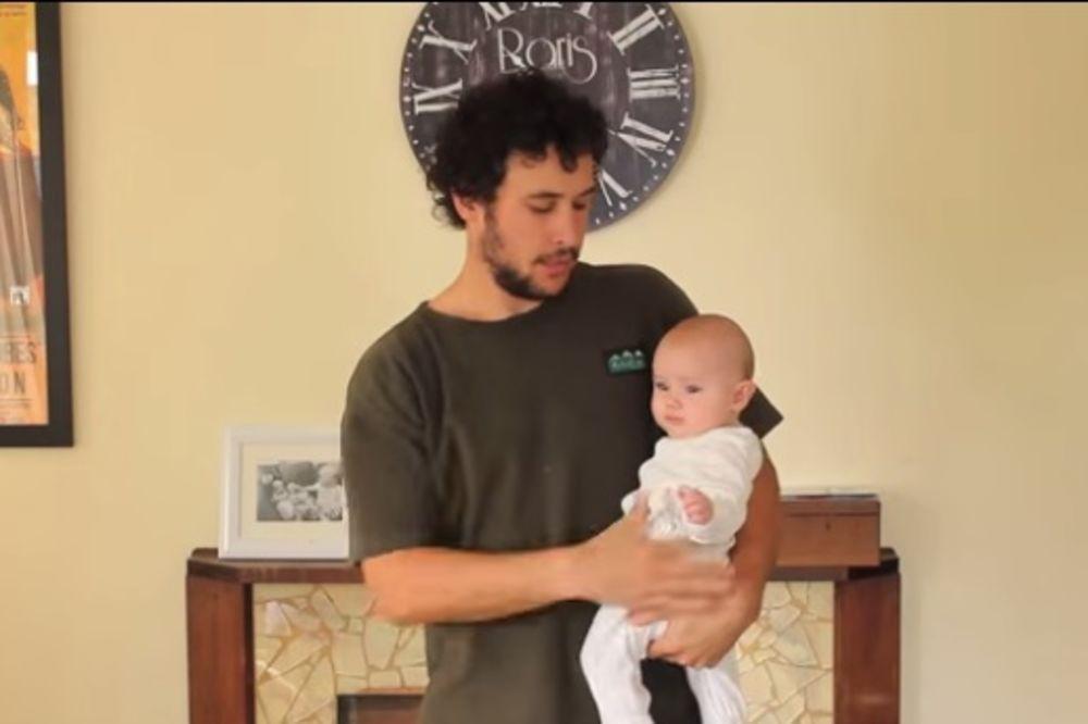 (VIDEO) NEMA VIŠE IZVLAČENJA: 17 načina kako tata treba da drži bebu