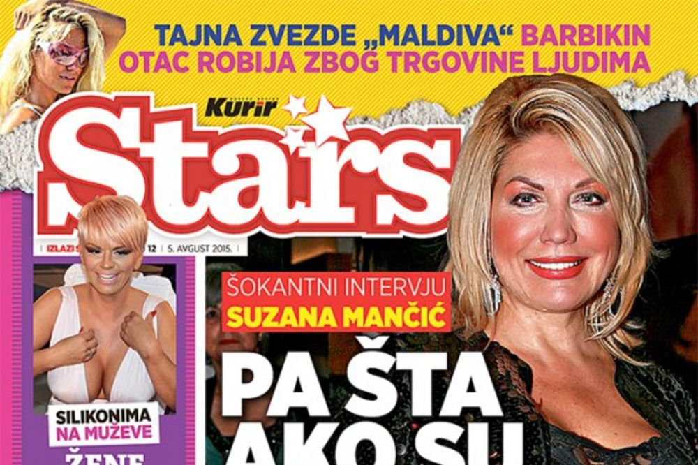 SUZANA MANČIĆ ZA STARS: Poštujte starlete pa taman i da se bave prostitucijom