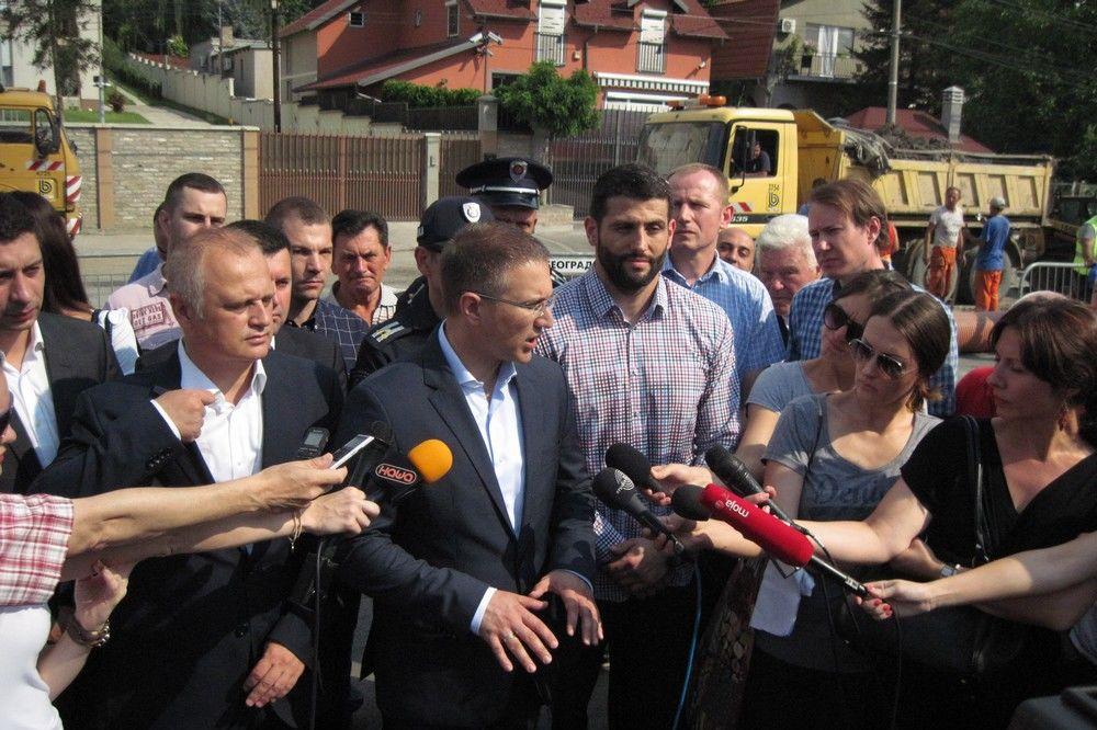 REKONSTRUKCIJA VINOGRADSKE Stefanović: Pojačaćemo policijske patrole i u ovom delu grada