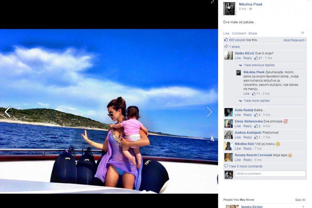 (FOTO) Nikolina odvela ćerkicu na prvo letovanje!