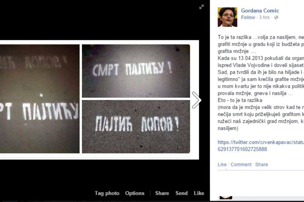 NIJE KRIV: Oslobođen osumnjičeni za pisanje grafita Smrt Pajtiću