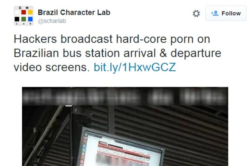 ZABAVA NA STANICI: Umesto informacija o redu vožnju, putnicima pustili porniće