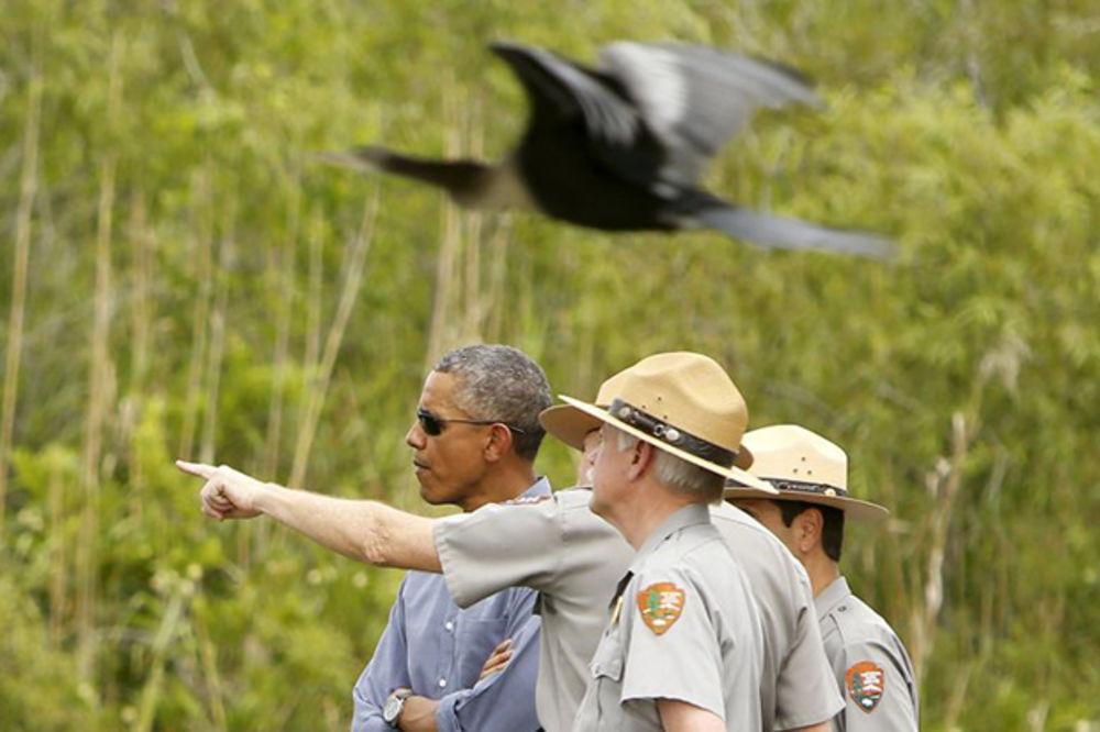 Barak Obama u poseti nacionalnom parku Everglejds