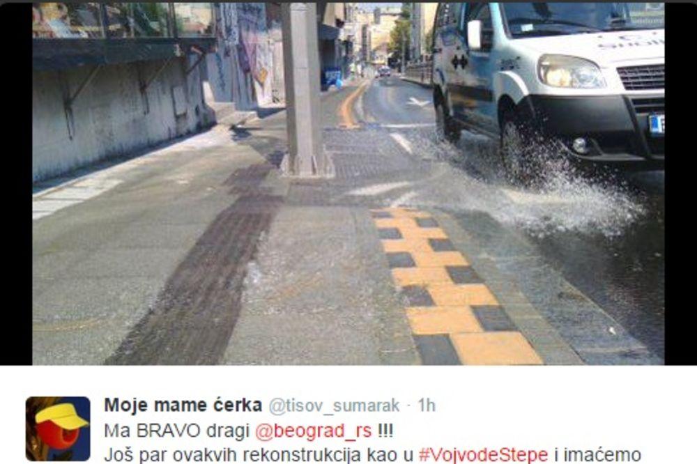 (FOTO) PUKLA CEV STARA 30 GODINA: Poplava u Vojvode Stepe, voda stigla do Autokomande