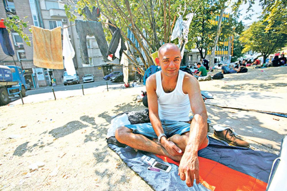 Jaser Muteir, Irak, izbeglice, migranti, bogat, siromašan, park, Srbija, foto Al