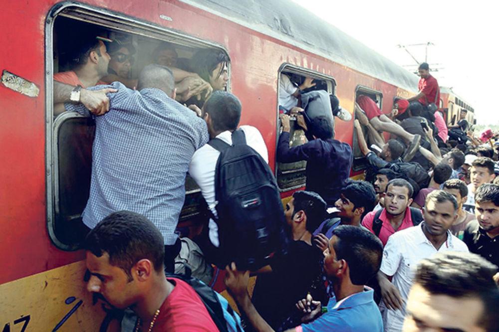 azilanti, migranti, izbeglice, Makedonija, Grčka, granica, foto AP