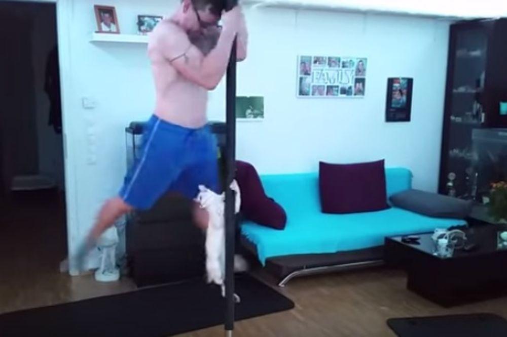 (VIDEO) MACA STRIPTIZETA: Ona pleše na šipci kao profesionalac!