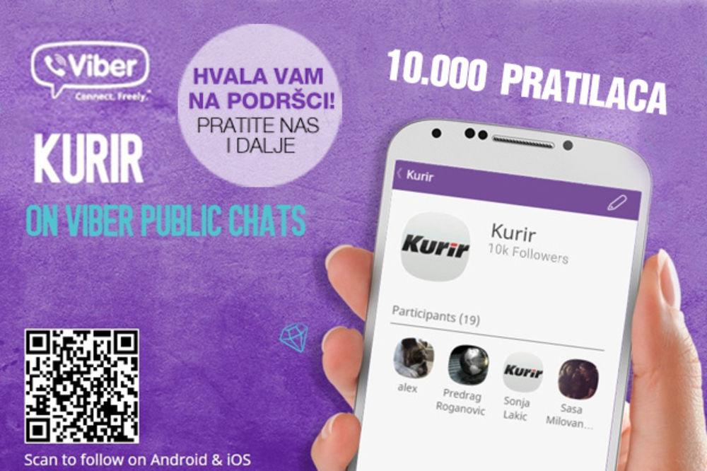 NAJPOPULARNIJI ČET U SRBIJI: Više od 10.000 ljudi na Vajber Kuriru!
