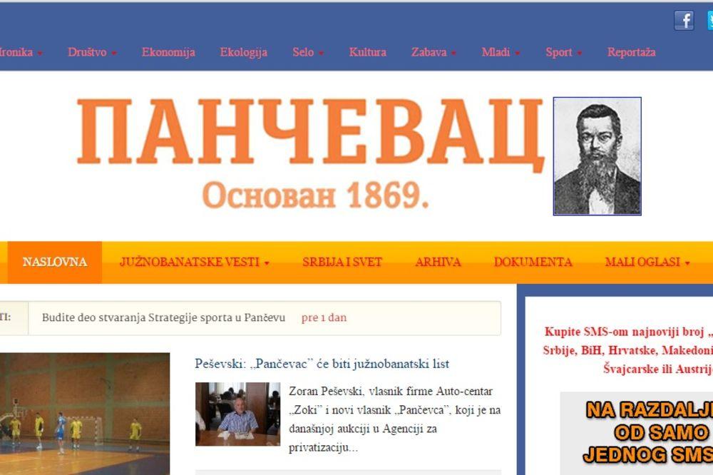Za 238.000 EVRA: Nedeljnik Pančevac prodat Auto-centru Zoki