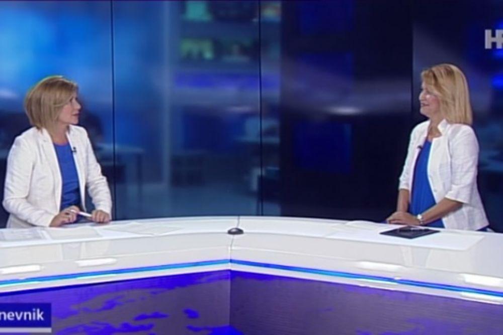 KAKAV BLAM NA HRT: Voditeljka Dnevnika i njena gošća obukle se kao bliznakinje!
