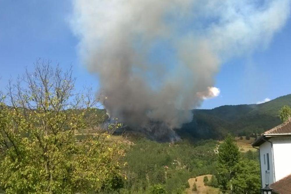 VARTENA STIHIJA KOD STUDENICE: Požar pod kontrolom, gašenje se nastavlja