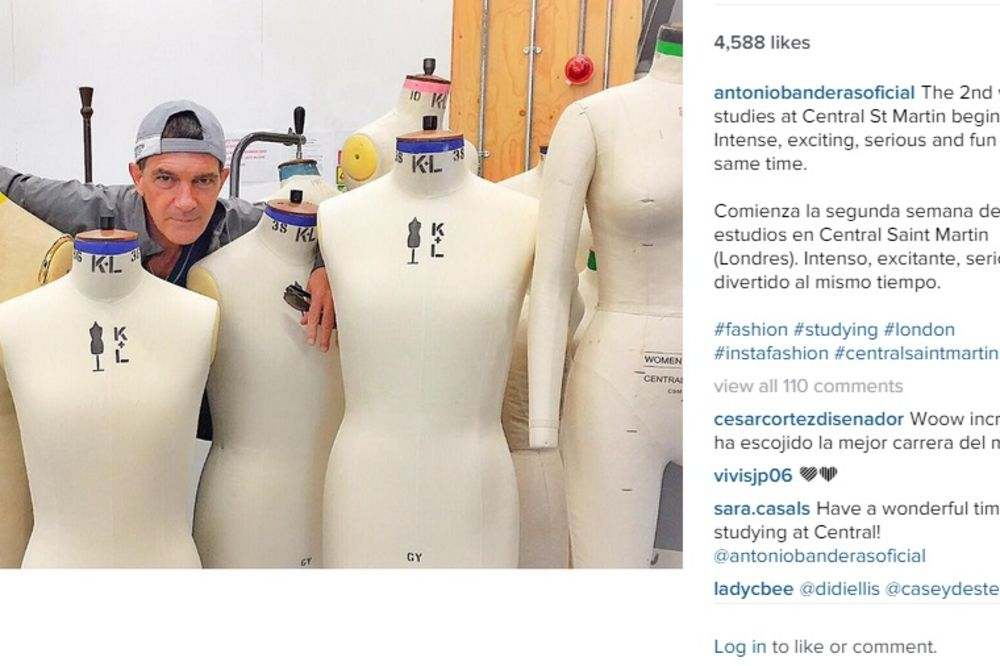 STUDENT: Antonio Banderas studira modu na londonskom koledžu!