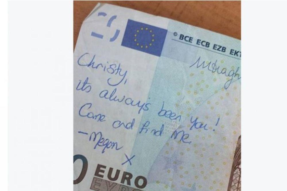 ROMANTIČNO: Ljubavna priča koju krije novčanica od 20 evra obišla ceo svet