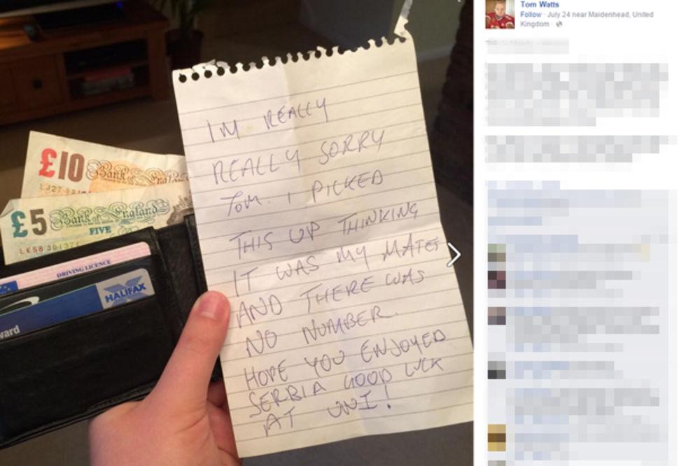 OVAKO SE PREDSTAVLJA SRBIJA U SVETU: Ovaj Britanac traži Srbina koji mu je vratio novčanik!