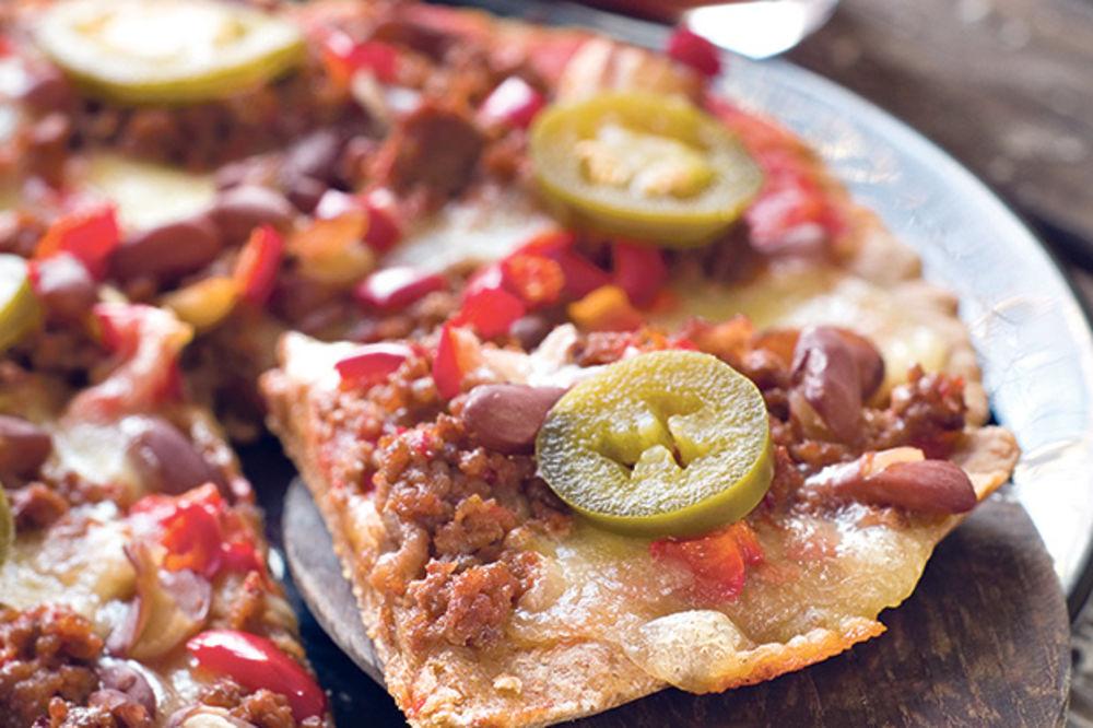 Meksička pica s mlevenim mesom