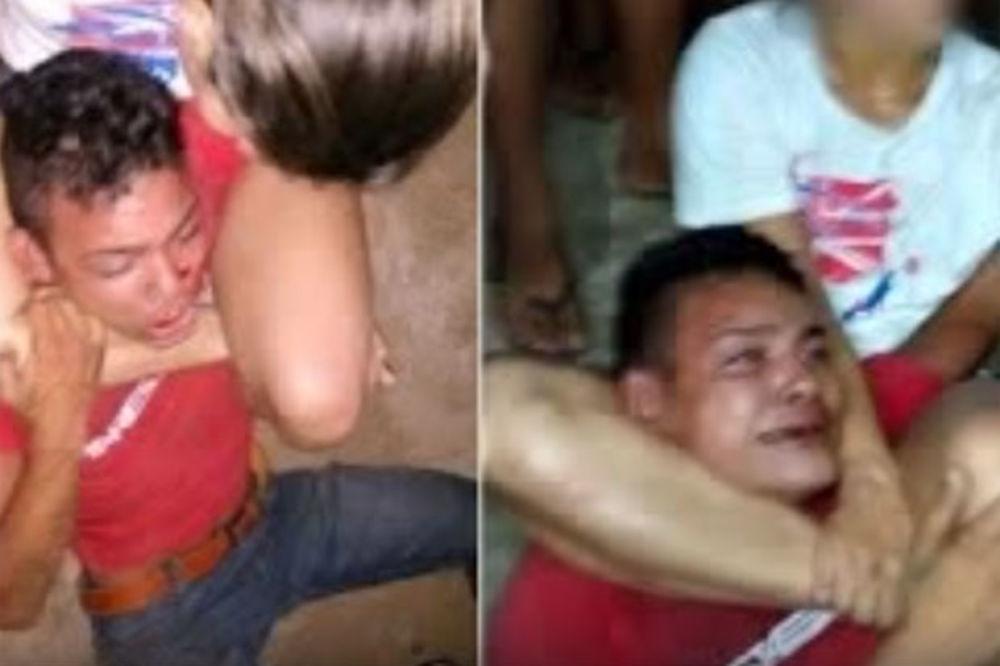 (VIDEO) PLAKAO KAO KIŠA: Pokušao da opljačka ženu MMA borca, pa dobio batine