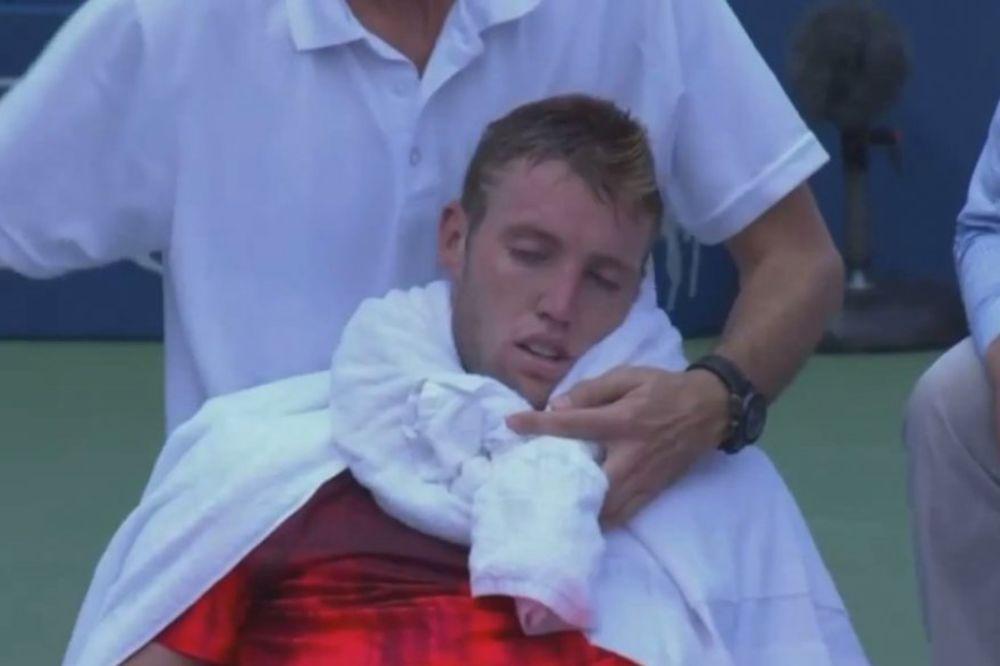 (VIDEO) DRAMA NA US OPENU: Američki teniser kolabirao na terenu
