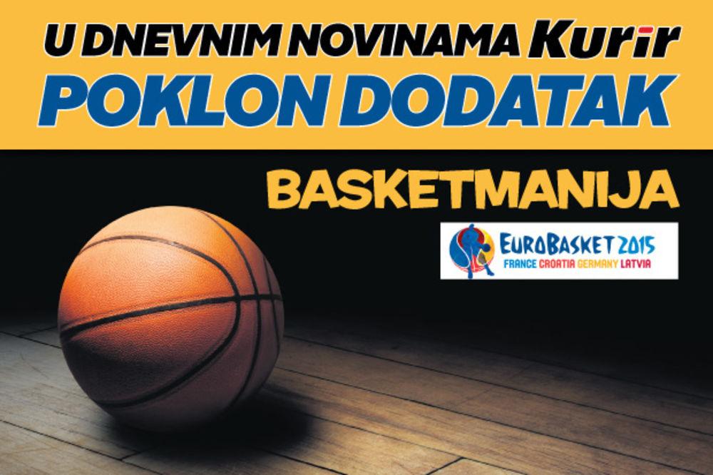SAMO U KURIRU: Basketmanija, magazin posvećen Evropskom prvenstvu u košarci